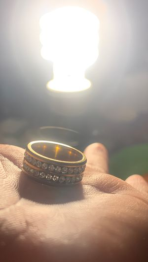 Fake gold ring with fake diamonds for Sale in Riverside, CA