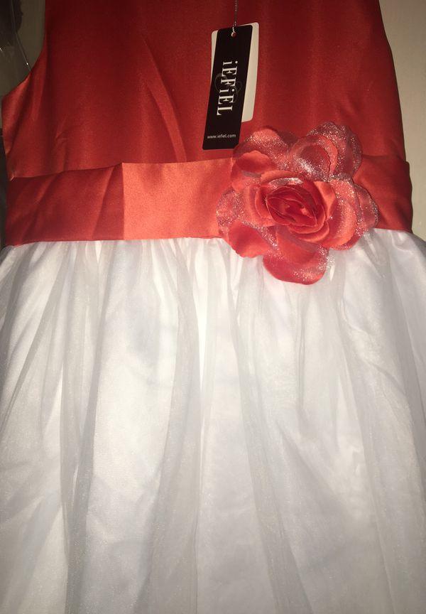 Girls flower petal layered dress