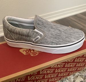Vans slip on rib knit version - size 6 woman for Sale in Corona, CA