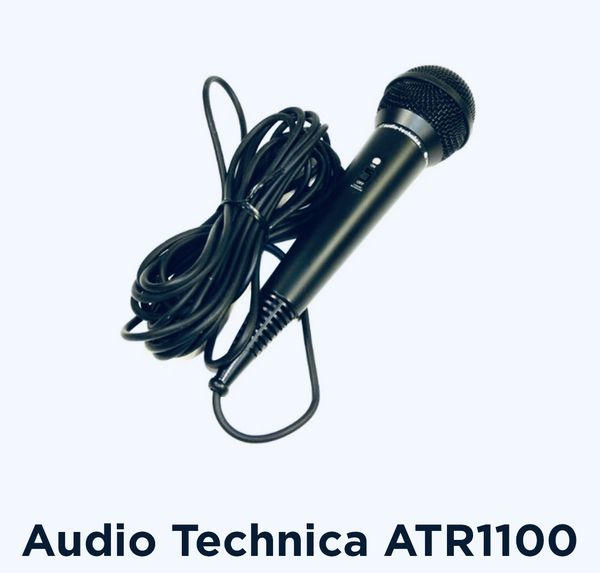 ATR 1100 microphone with desk stand, new in box