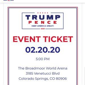 Trump ralley tickets for Sale in Colorado Springs, CO