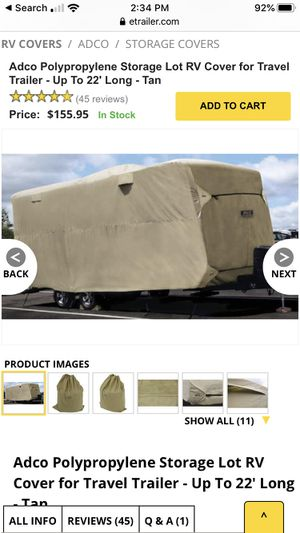 Adco 22 foot travel trailer cover for Sale in Ontario, CA