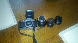 Combo package Pentax k1000 camera with extra lenses for Sale in Marietta, GA