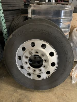 Truck aluminum rims 24,5 for Sale in Elk Grove Village, IL