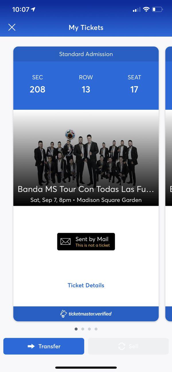 Tickets to BANDA MS (con todas las fuerzas tour)