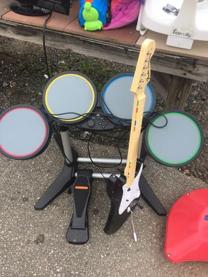 Needs to go. PS3 drum and guitar set for Sale in Central, SC