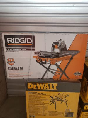 Rigid 8 Inch WetbSaw With Stand (R4040S) for Sale in Philadelphia, PA