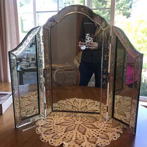 Antique Venetian Tri Fold Vanity Mirror for Sale in Sherwood, OR