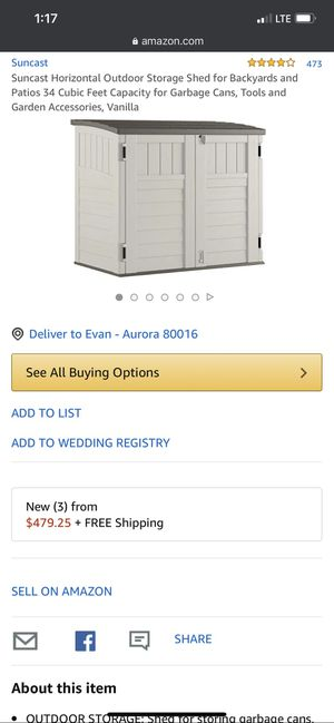 Outdoor storage shed for Sale in Aurora, CO