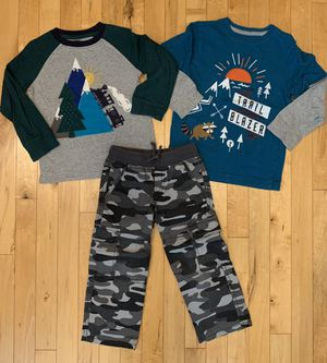 Gymboree 3T Long Sleeved Shirts & Camo Pants for Sale in Aurora, IL