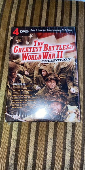 The Greatest Battles Of World War II (Collection) ~ 4 DVD for Sale in Puyallup, WA