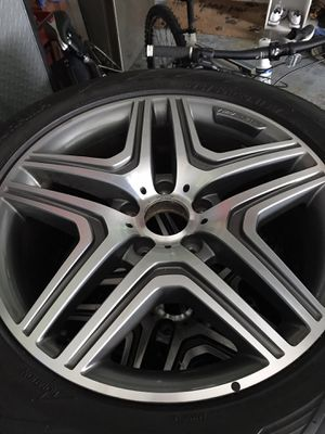Amg g wagon rims and tires for Sale in Hobe Sound, FL