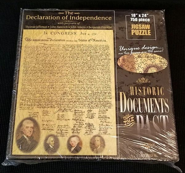 American Documents The Declaration of Independence 750 pc. Jigsaw Puzzle