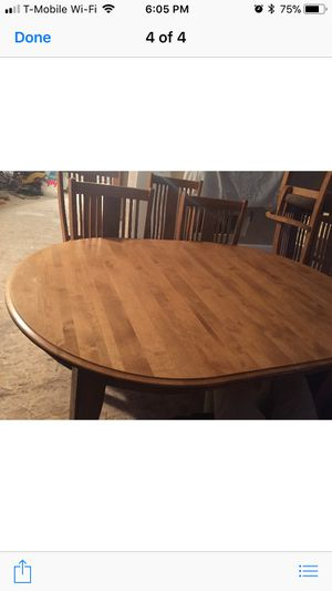 Kitchen table chairs and hutch gorgeous for Sale in Boston, MA