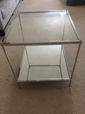 2 Side tables ( glass and mirrored) for Sale in Irvine, CA