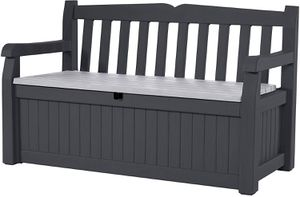 Grey 70 Gallon Storage Bench Deck Box Outdoor Use for Sale in Henderson, NV