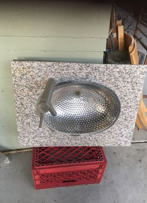 Granite zinc and faucet 30 inches long 23 wide $45 for Sale in Pico Rivera, CA