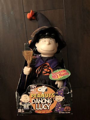 Vintage—Peanuts Lucy in witch costume—pre-owned, doesn't dance, only plays music for Sale in Corona, CA
