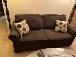Loveseat Sleeper sofa (pillows included) for Sale in Garrison, MD