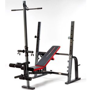 OLYMPIC WEIGHT BENCH PRESS, BAR AND WEIGHTS for Sale in San Diego, CA