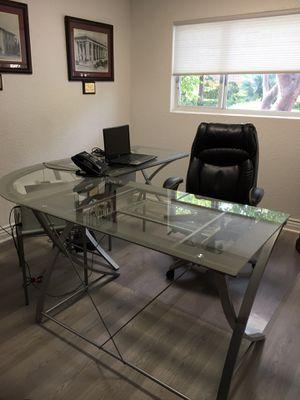 Modern Modular Glass Desk for Sale in Fort Lauderdale, FL