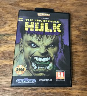 The Incredible Hulk COMPLETE for Sega Genesis video game system case manual marvel comics for Sale in Cleveland, OH