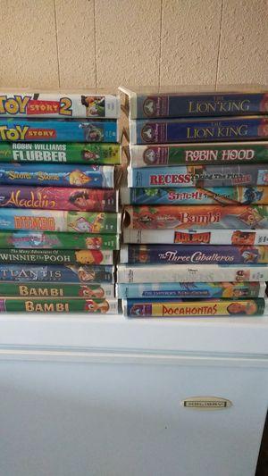 Walt Disney s Nd Vhs Movies all $120 for Sale in Van Buren, AR