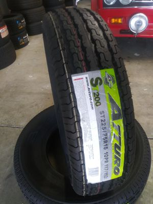 ST225-75-15 Atturo Trailer Tires for Sale in Ontario, CA