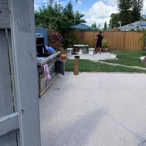 Concrete Table And 2 Benches Good Condition for Sale in West Palm Beach, FL
