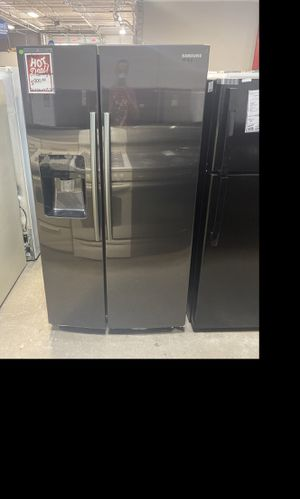 Samsung Black stainless steel side by side fridge #907 for Sale in South Farmingdale, NY