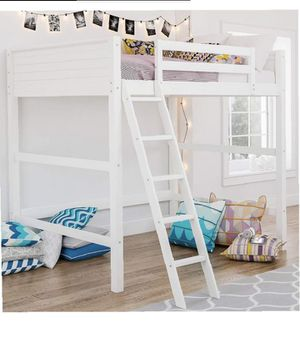 Wooden Loft bed frame twin size for Sale in Trenton, OH