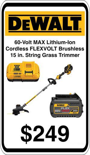 BRAND NEW - DeWalt 60V Flex Volt Trimmer, Battery & Charger - We accept trades & Credit Cards - AzBE Deals for Sale in Peoria, AZ