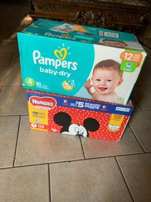 Diapers Huggies and pampers for Sale in Fort Worth, TX