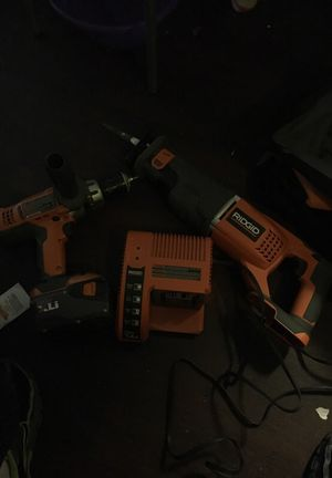 24 volt hammer drill and saw zaw with bag barely used 24 volt for Sale in Marietta, GA