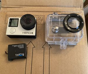 GoPro Hero 4 with Underwater Housing + Extra Battery for Sale in Falls Church, VA