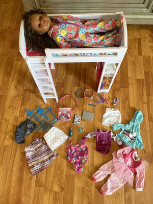 Mylife brown skinned girl doll with loft bed and accessories for Sale in Chesapeake, VA
