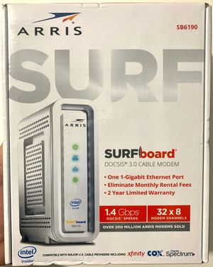 ARRIS SB6190 DOCSIS 3.0 CABLE MODEM UP TO 1.4 Gbps(Sealed Box) for Sale in Hialeah, FL