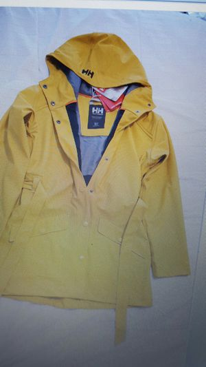Helly Hansen women's rain coat gold color brand new with a tag. for Sale in Silver Spring, MD