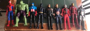 $45 Marvel avengers lot Spider-Man Hulk Captain America Black Panther Winter Soldier Captain America Ant Man Iron Man Iron Patriot. for Sale in Las Vegas, NV