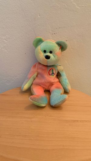 Ty beanie babies Rare (Rainbow peace bear) beanie baby bear. Never used keep in a collection of other ty beanie baby's. Collectible rare kids toys ch for Sale in Lakeside, CA