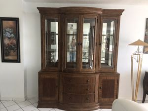 Wood and glass china cabinet for Sale in Hollywood, FL