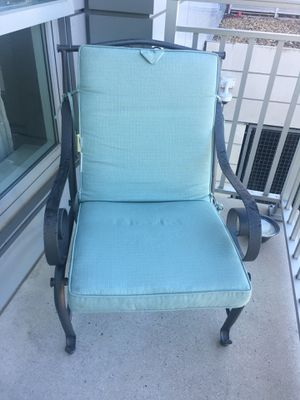 Wrought Iron Set of Patio Chairs with Cushions for Sale in Medford, MA