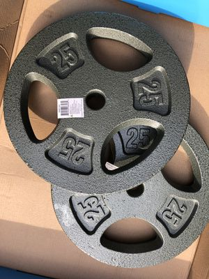 "25 lb weight plates 1"" standard for Sale in Morton Grove, IL"