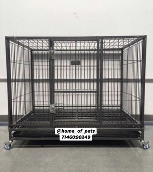 Dog pet cage kennel size 43 large folding new in box for Sale in Corona, CA