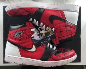 Custom air Jordan 1 Spider-Man (miles morales) for Sale in Milpitas, CA