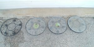 4 Saucer Caddy Potted Plant Caddies for Sale in Georgetown, TX