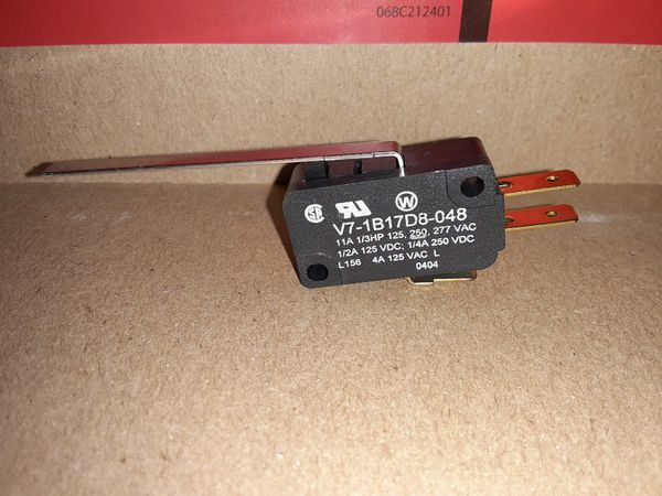 Honeywell V7-2B17D8-022 Switch Snap Action