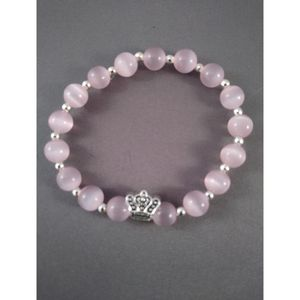 QUEEN charm and Pink catseye beaded bracelet for Sale in Nashua, NH