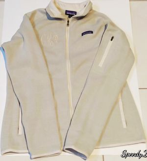 Patagonia Olive Light Green CHJ embroided Full Zip Sweater for Sale in Miami Gardens, FL