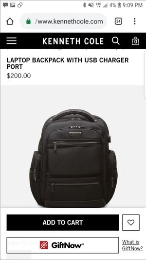 Laptop Backpack with usb charger port for Sale in San Jose, CA